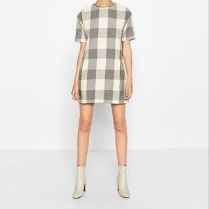 ZARA Straight Check Dress